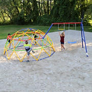 Skywalker Sports 10' Geo Dome Climber with Swing Set