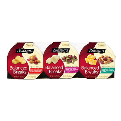 Sargento Balanced Breaks Snack Trays Variety Pack, 9 pk./1.5 oz.