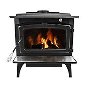 Pleasant Hearth Large Wood Stove with Variable Speed Blower