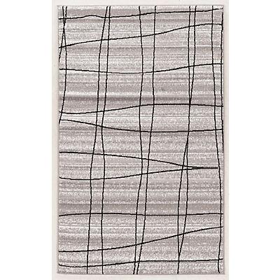"Linon Capri 4'4"" x 7'3"" Rug - Gray/White Mod Plaid"