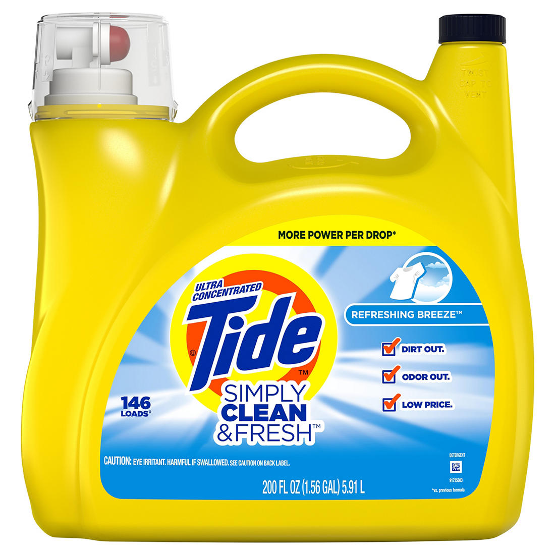photograph regarding Tide Simply Clean Printable Coupons named Tide Merely Fresh new New Contemporary Breeze Extremely Focused Liquid Laundry Detergent, 200 fl. oz.