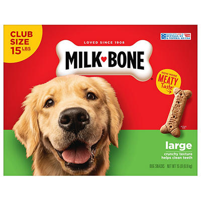 Milkbone Large Dog Biscuits, 15 lbs.