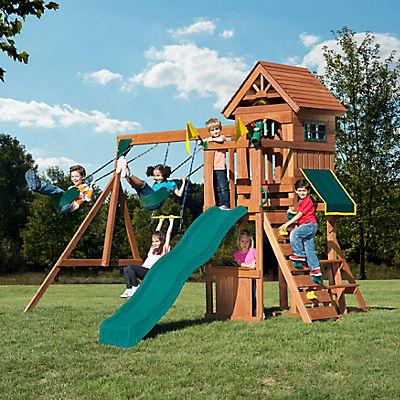 Backyard Play Systems Swing Fort Cedar Swing Set