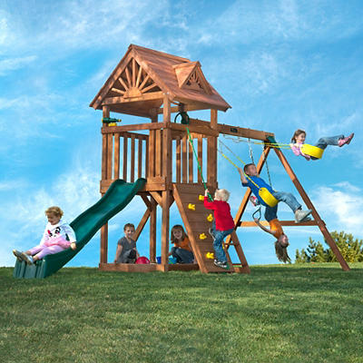 Backyard Play Systems Skycrest Flyer Swing Set