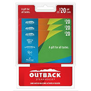 $20 Multipack Outback Steakhouse Gift Card, 3 pk.