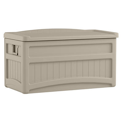 Suncast 73-Gal. Resin Deck Box with Wheels - Taupe
