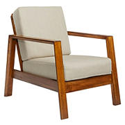Handy Living Columbus Mid-Century Wood Frame Arm Chair - Tan