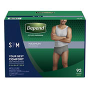 Depend Fit-Flex Small/Medium Maximum Absorbency Underwear for Men, 92 ct.