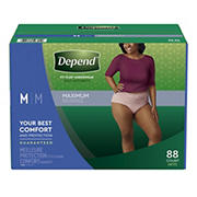 Depend Fit-Flex Medium Maximum Absorbency Underwear for Women, 88 ct.