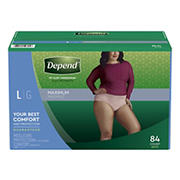 Depend Fit-Flex Large Maximum Absorbency Underwear for Women, 84 ct.