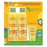 Alba Botanica Hawaiian Broad-Spectrum SPF 50 Sunscreen, 2 pk./6 oz. with 1 oz. Tube of Lotion