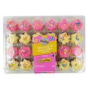 two-bite Spring Vanilla and Chocolate Mini Cupcakes, 24 pk.