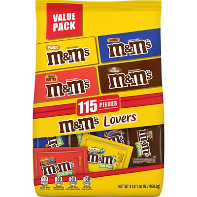 M&M's Club Variety Pack, 115 ct.