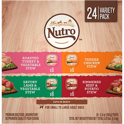 Nutro Cuts in Gravy Dog Food Variety Pack, 24 ct./3.5 oz.