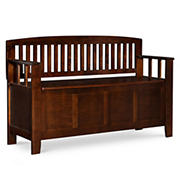 Crista Storage Bench - Walnut