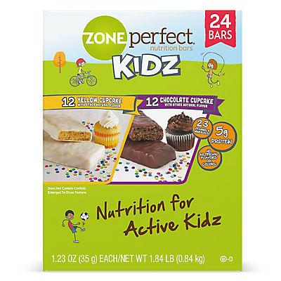 ZonePerfect Kidz Nutrition Bar Cupcake Variety Pack, 1.23 oz./24 ct.