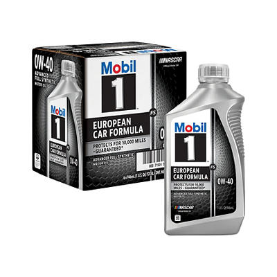 Mobil 1 0W-40 European Car Formula Advanced Full Synthetic Motor Oil,