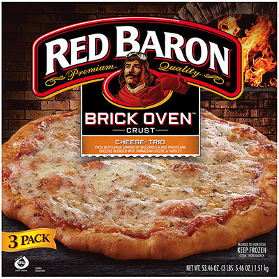 Red Baron Premium Quality Brick Oven Crust Pizza, 3 pk./5.46 oz.