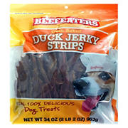 Beefeaters Duck Jerky Strips Dog Treats, 34 oz.