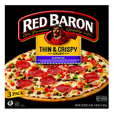 Red Baron Thin & Crispy Crust Pizza, 3 pk./17.46 oz.