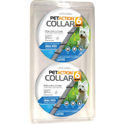 PetAction 6-Month Flea & Tick Collar for Small Dogs, 2 pk.