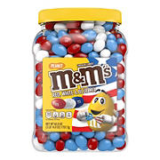 M&M's Red, White & Blue Mix Peanut Chocolate Candy Value Pack, 62 oz.