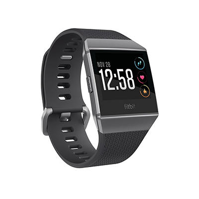 Fitbit Ionic Charcoal Bundle with Large and Small Sport Band - Black/G