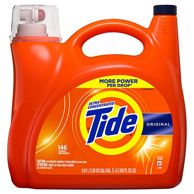 Tide Original Ultra Concentrated Liquid Laundry Detergent,  200 fl. oz