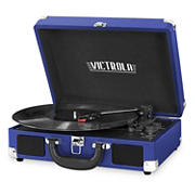 Victrola Portable Suitcase Record Player with Bluetooth - Blue