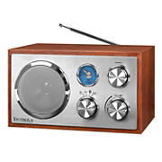 Victrola Wooden Desktop Bluetooth Radio - Brown