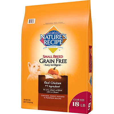 Nature's Recipe Chicken, Sweet Potato, & Pumpkin Small Breed Grain Fre