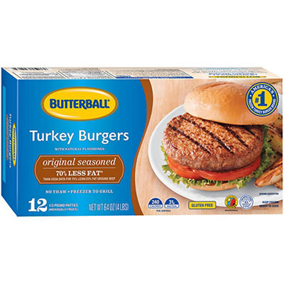 Butterball Frozen Turkey Burgers, 12 ct./5.3 oz.