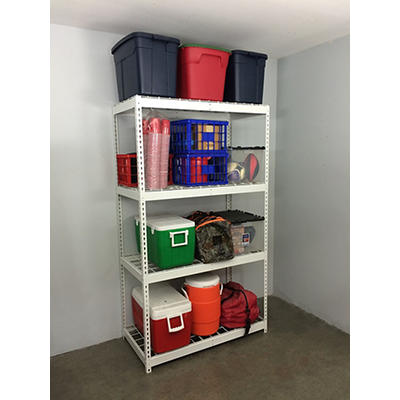 SafeRacks 2'D x 4'W x 7'H Freestanding Steel Shelving Unit - White