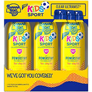 Banana Boat Kids Sport SPF 50+ Sunscreen Lotion Spray, 3 pk./6 oz.