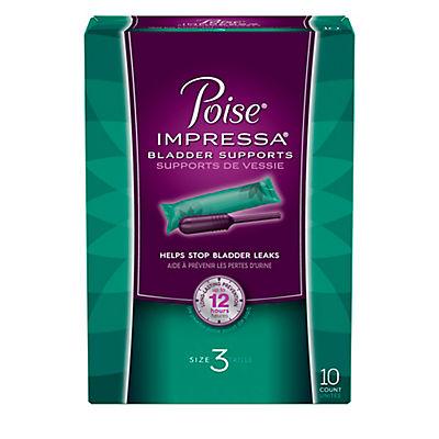 Poise Impressa Bladder Support, Size 3, 10 ct.