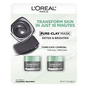 L'Oreal Pure-Clay Mask, 2 pk./1.7 oz.