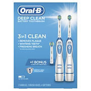 Oral-B Deep Clean Battery Toothbrush, 2 pk.