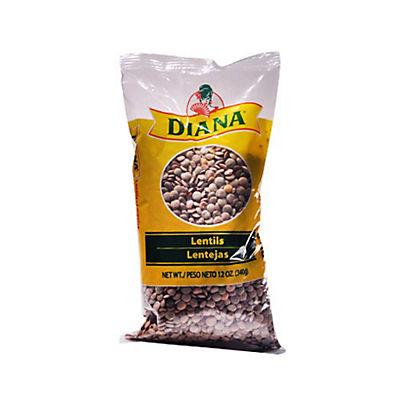 Diana Dry Lentils, 6 Bags/12 oz.