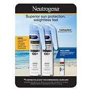 Neutrogena Ultra Sheer Body Mist Full reach Sunscreen Spray Broad Spectrum SPF 100+ 2 pk./5 oz. with Bonus Lip Moisturizer