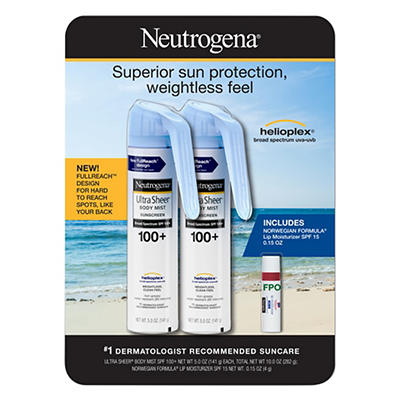 Neutrogena Ultra Sheer Body Mist Full reach Sunscreen Spray Broad Spec