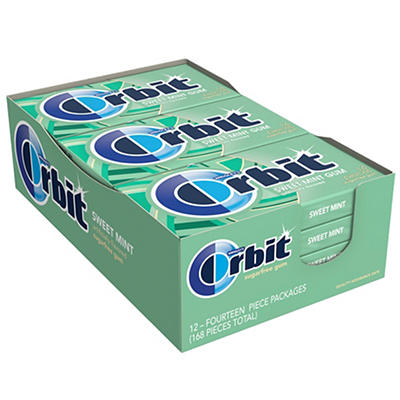 Orbit Sweet Mint Sugar-Free Gum, 12 pk./14 ct.