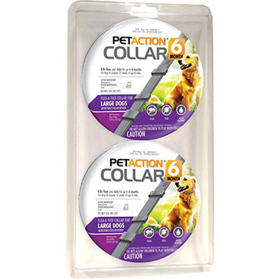 PetAction Six Month Collar for Large Dogs, 2 pk.