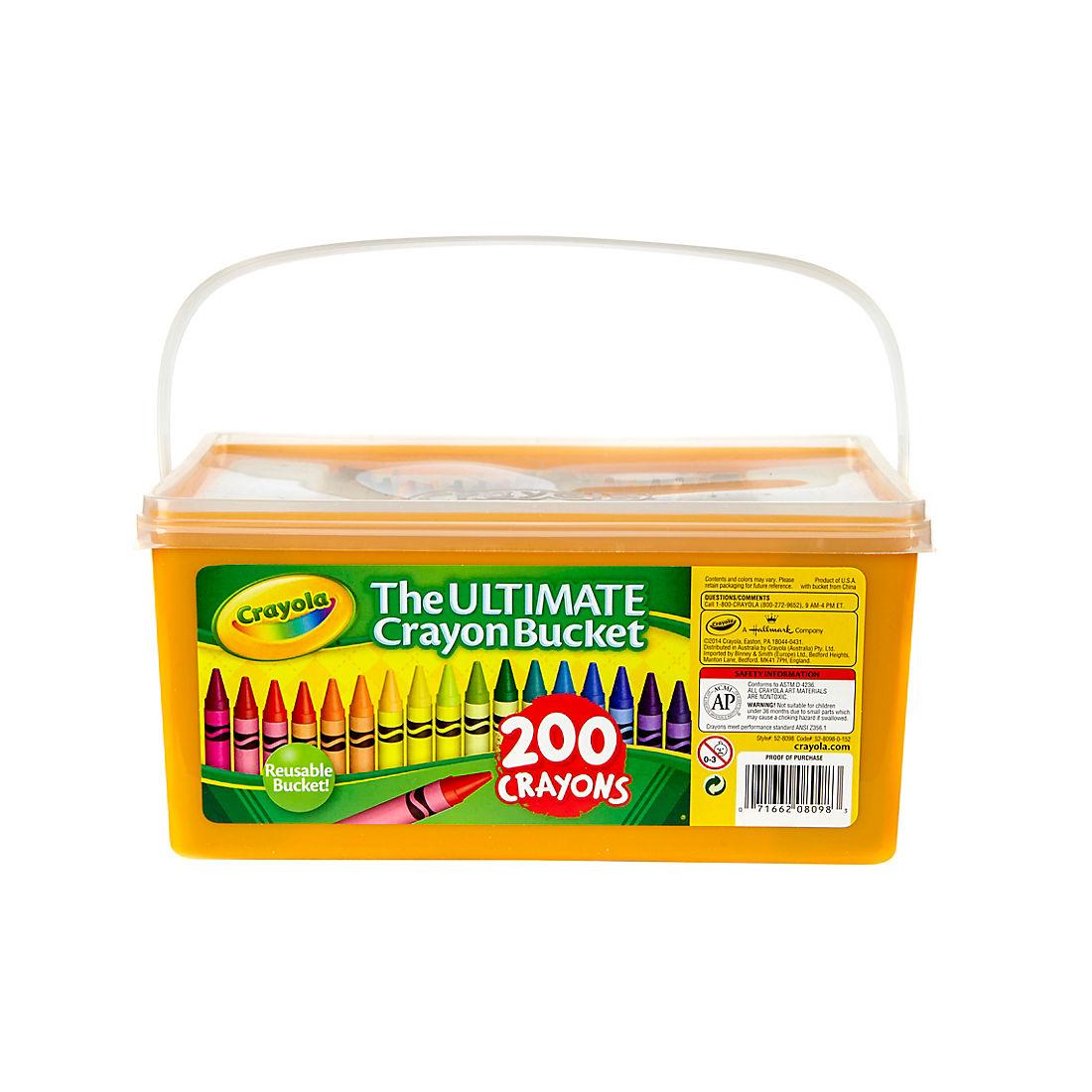 Crayola Ultimate Crayon Bucket, 200 ct.