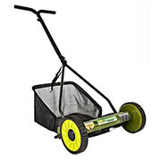 "Sun Joe Mow Joe 16"" Manual Reel Lawn Mower with Catcher"