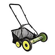 "Sun Joe Mow Joe 20"" Manual Reel Lawn Mower with Catcher"