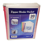 Firstline Zipper Binder Envelopes, 20 pk.