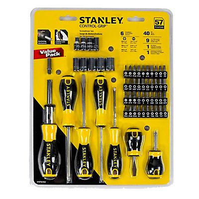STANLEY 57-Pc. Control Grip Screwdriver Set