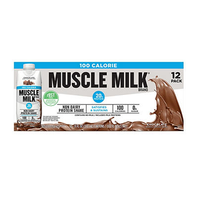 Muscle Milk 100 Calorie Non Dairy Chocolate Protein Shake, 12 ct./11 o