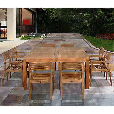 Amazonia Kauai 9-Pc. Teak Outdoor Dining Set - Brown