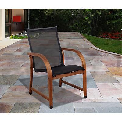 Amazonia Indiana Eucalyptus Patio Chairs, 4 pk. - Black/Brown
